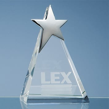 Triangle Glass Star Award