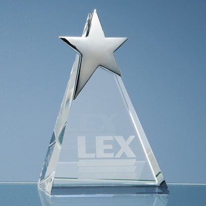 triangle glass star award