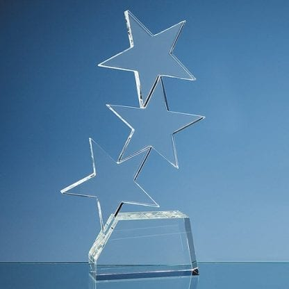 triple rising star glass award