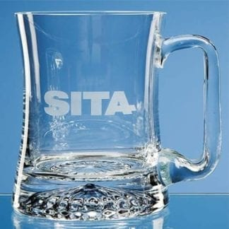Waisted Star Base Glass Tankard