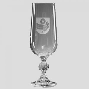 Engraved Claudia Glass Champagne Flute