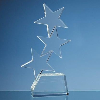 Triple Rising Star Glass Award