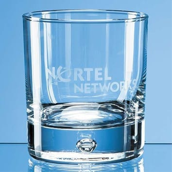 Bubble Base Whisky Glass