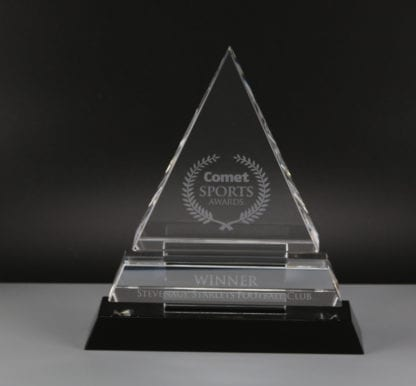 Optic Crystal Triangle Award