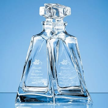 Pair of Lovers Decanters